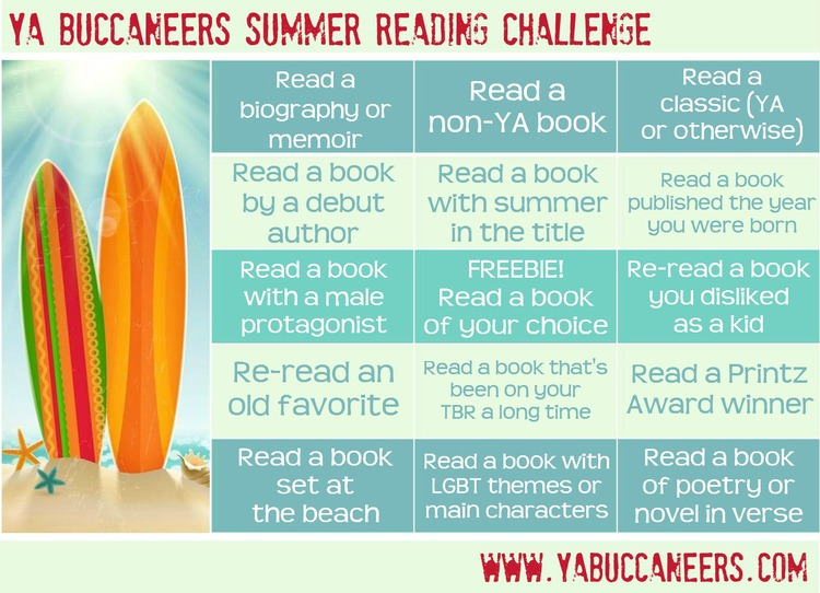 YAB Read Challenge Bingo